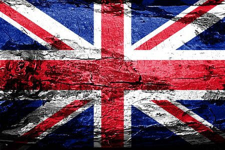 great: Great britain flag with grunge texture