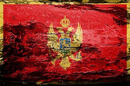 Montenegro flag with grunge texture
