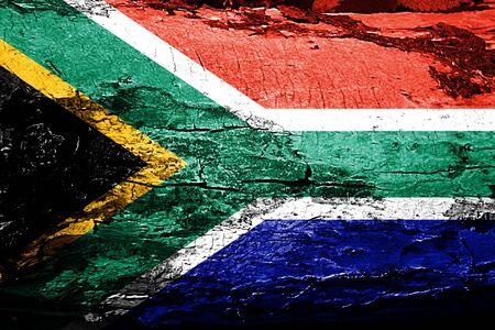 drapeau de l'afrique du Sud avec grunge texture