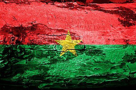Burkina Faso flag with grunge texture