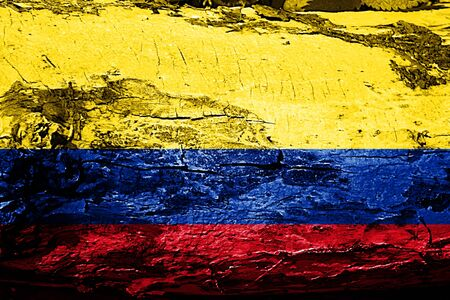 Colombia flag with grunge texture Stock Photo