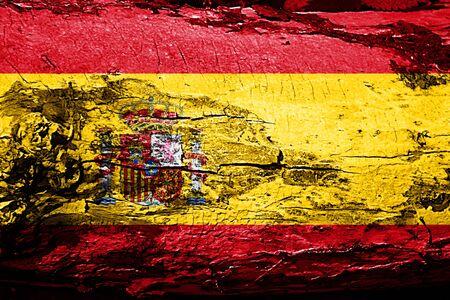 spanish flag: Spanish flag with grunge texture