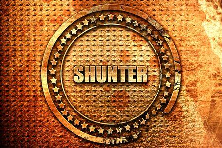 shunter, 3D rendering, grunge metal stamp Stock Photo