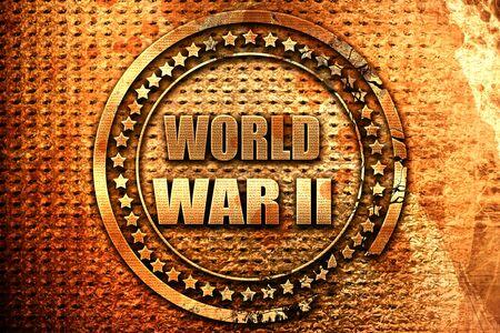 World war 2 background, 3D rendering, grunge metal stamp Stock Photo