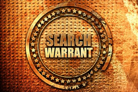 prosecutors: search warrant, 3D rendering, grunge metal stamp