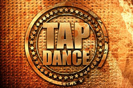 3d dance: tap dance, 3D rendering, grunge metal stamp