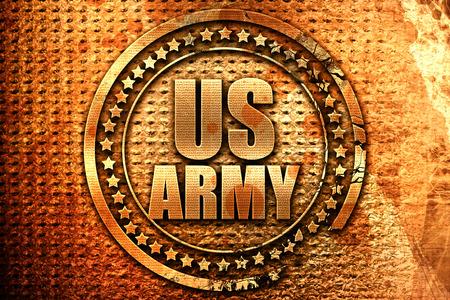 us army, 3D rendering, grunge metal stamp