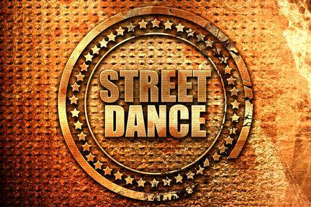 3d dance: street dance, 3D rendering, grunge metal stamp Stock Photo