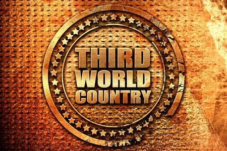 benares: third world country, 3D rendering, grunge metal stamp