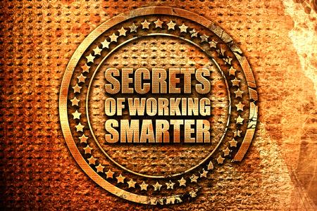maximization: secrects of working smarter, 3D rendering, grunge metal stamp