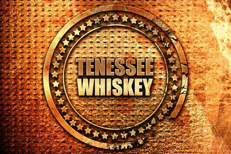 Tennessee whiskey, 3D rendering, grunge metal stamp