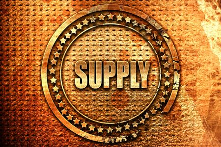 pricing: supply, 3D rendering, grunge metal stamp