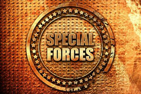 special forces, 3D rendering, grunge metal stamp