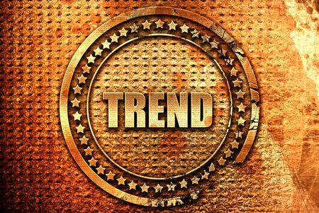 trends, 3D rendering, grunge metal stamp Stock Photo