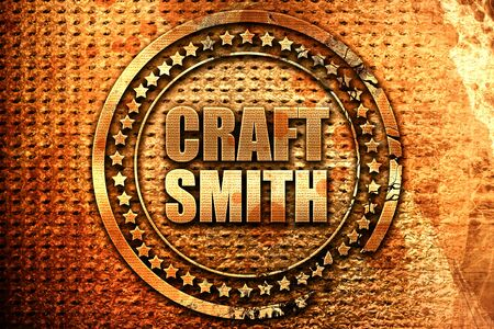 craft smith, 3D rendering, grunge metal text Stock Photo