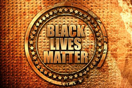 disobedience: black lives matter, 3D rendering, grunge metal text
