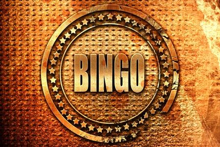 bingo, 3D rendering, grunge metal text Stock Photo