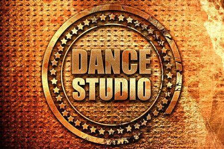 3d dance: dance studio, 3D rendering, grunge metal stamp Stock Photo