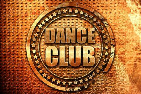 dance club, 3D rendering, grunge metal text Stock Photo