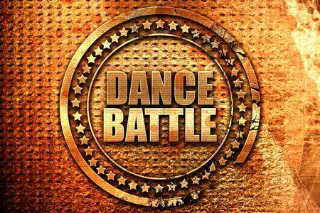 3d dance: dance battle, 3D rendering, grunge metal text Stock Photo