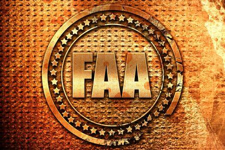 faa: faa, 3D rendering, grunge metal text