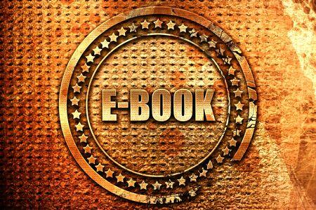 databank: e-book, 3D rendering, grunge metal text