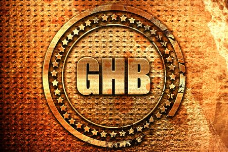 ghb, 3D rendering, grunge metal text Stock Photo