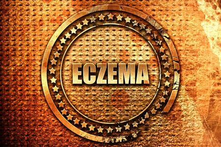 eczema, 3D rendering, grunge metal text