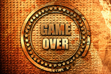 unsuccess: game over, 3D rendering, grunge metal text Stock Photo