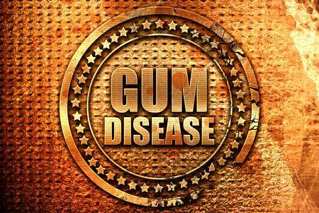 gum disease, 3D rendering, grunge metal text Stock Photo