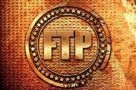 ftp, 3D rendering, grunge metal text