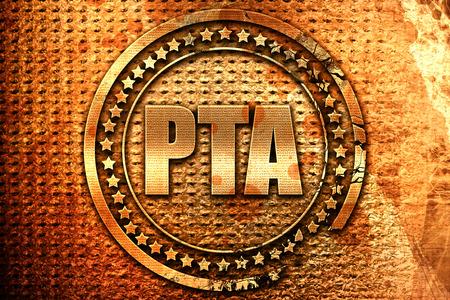 pta, 3D rendering, grunge metal text Stock Photo