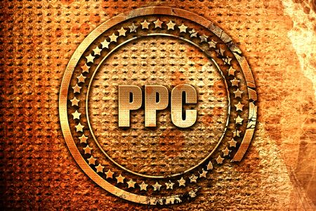 ppc, 3D rendering, grunge metal text