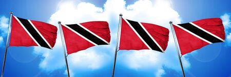 trinidad and tobago: Trinidad and tobago flag, 3D rendering, on cloud background
