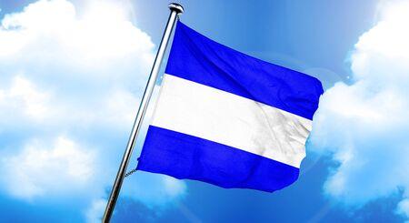 Juliet maritime signal flag, 3D rendering Stock Photo