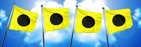 India maritime signal flag, 3D rendering Stock Photo