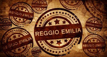 reggio emilia: Reggio emilia, vintage stamp on paper background Stock Photo