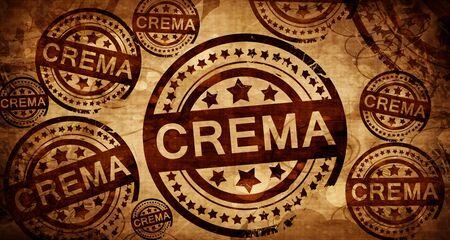 crema: Crema, vintage stamp on paper background Stock Photo
