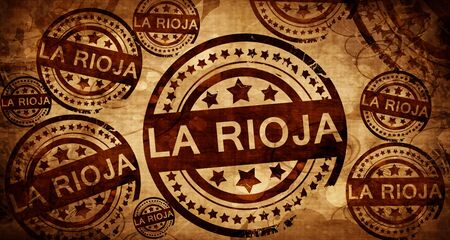 La rioja, vintage stamp on paper background