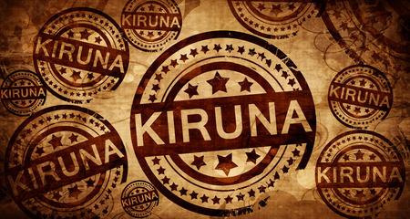 Kiruna, vintage stamp on paper background