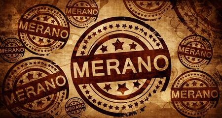 Merano, vintage stamp on paper background