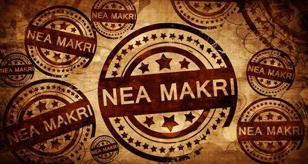 makri: Nea Makri, vintage stamp on paper background
