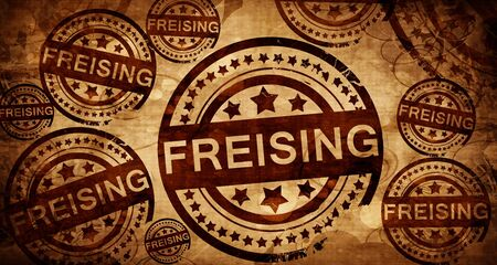 freising: Freising, vintage stamp on paper background Stock Photo