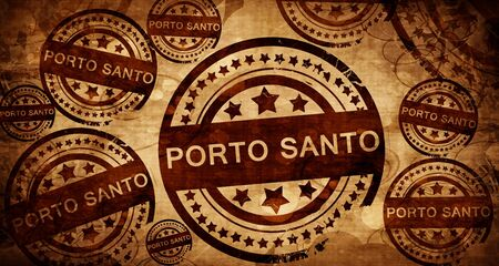 santo: Porto santo, vintage stamp on paper background Stock Photo