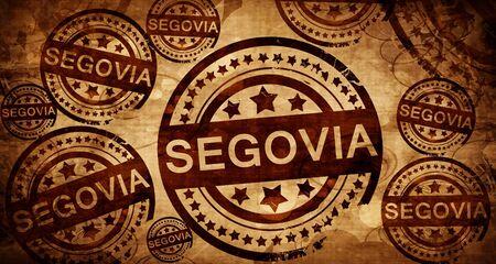 Segovia, vintage stamp on paper background