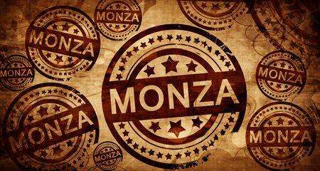 monza: Monza, vintage stamp on paper background