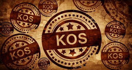 kos: Kos, vintage stamp on paper background