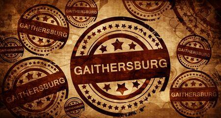 stamped: gaithersburg, vintage stamp on paper background