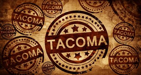 tacoma: tacoma, vintage stamp on paper background