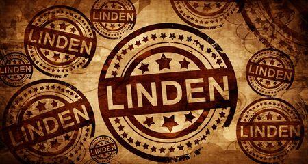 stamped: linden, vintage stamp on paper background